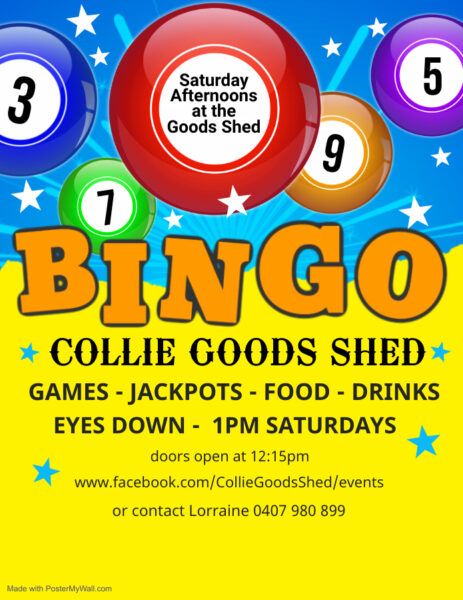 Good Shed BINGO! @ Railway Good Shed | Collie | Western Australia | Australia