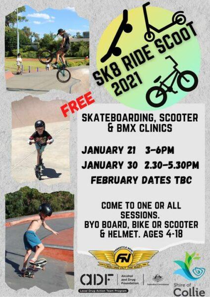 Sk8 RIDE SCooT 2021 @ Collie Skate Park | Collie | Western Australia | Australia